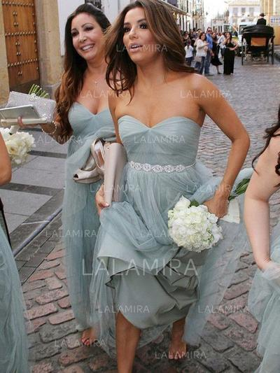 Ruffle Sweetheart With Elegant Tulle Bridesmaid Dresses (007211676)