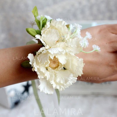 Wrist Corsage Wedding Satin Color & Style representation may vary by monitor Cute Wedding Flowers (123189073)