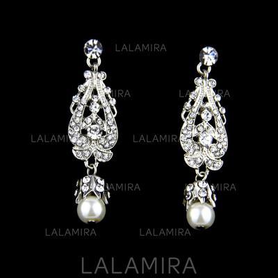 Pendientes Aleación/Diamantes de imitación/La perla de faux Rhinestone/La perla de faux Perforado Señoras' Joyas de boda & fiesta (011110814)