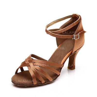 Donna Latino Sandalo Raso con Listino alla caviglia Scarpe da ballo (053063268)