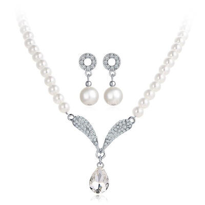 Jewelry Sets Alloy/Rhinestones Lobster Clasp Pierced Exquisite Wedding & Party Jewelry (011168054)