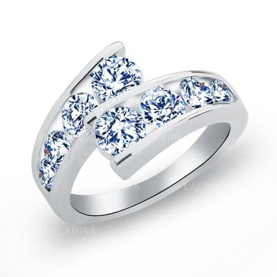 Rings Copper/Zircon/Platinum Plated Ladies' Gorgeous Wedding & Party Jewelry (011165410)