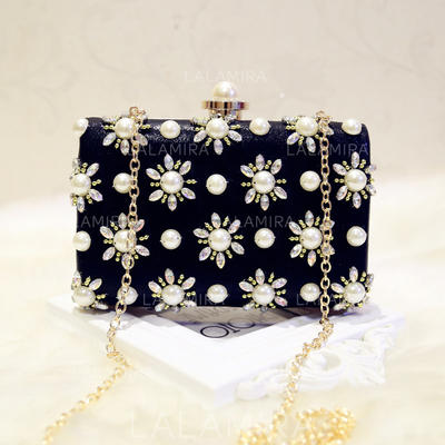 """Clutches/Satchel/Totes Wedding/Ceremony & Party PU Kiss lock closure 7.09""""(Approx.18cm) Clutches & Evening Bags (012187793)"""