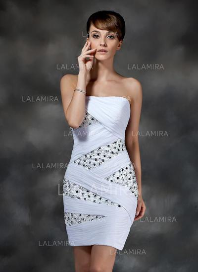 Fashion Sheath/Column Chiffon Cocktail Dresses (016008321)