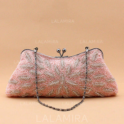 Clutches Wedding/Ceremony & Party Beading Kiss lock closure Refined Clutches & Evening Bags (012187528)