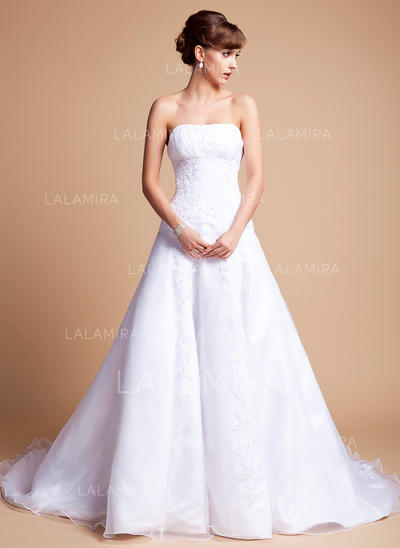 Delicate General Plus Sweetheart A-Line/Princess Satin Organza Wedding Dresses (002196873)