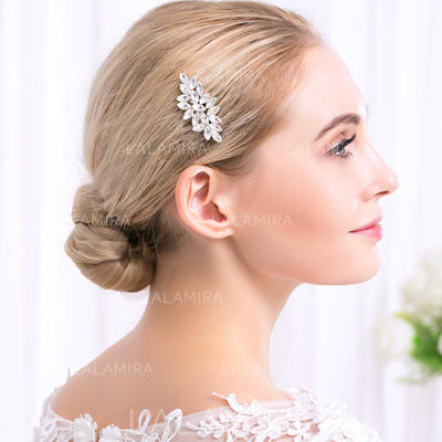"Combs & Barrettes Wedding/Special Occasion/Party Alloy 2.17""(Approx.5.5cm) 1.97""(Approx.5cm) Headpieces (042157465)"