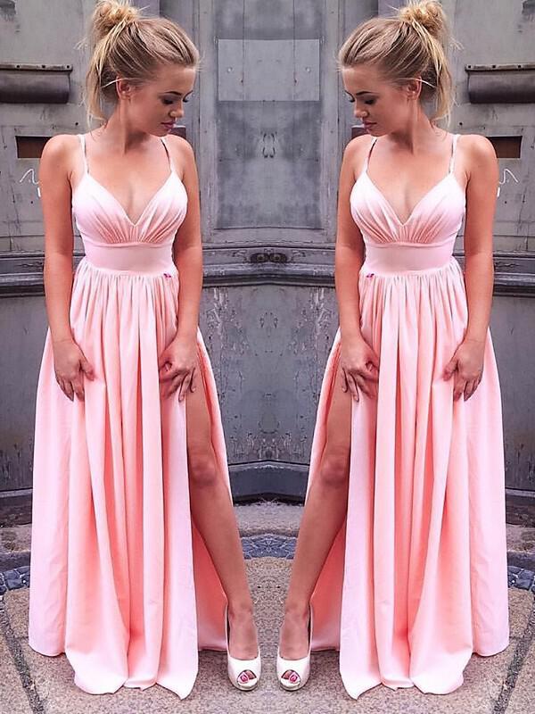 dac6a4984d4e Elegant Chiffon Evening Dresses A-Line Princess Floor-Length V-neck  Sleeveless. Loading zoom