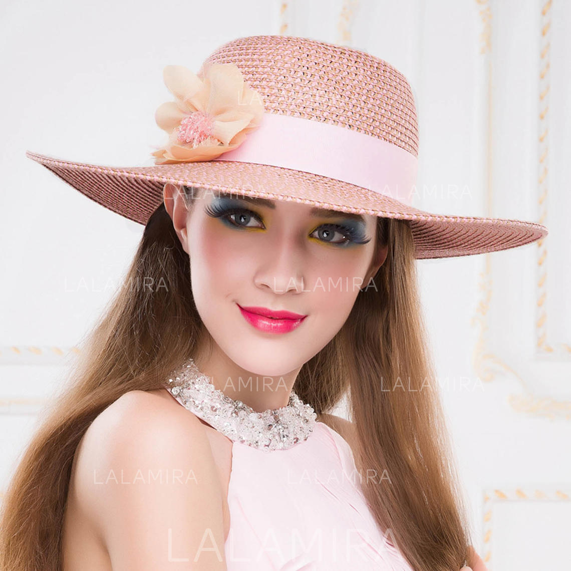 855026a96 Papyrus With Silk Flower Floppy Hat/Straw Hat Charming Ladies' Hats  (196193871)