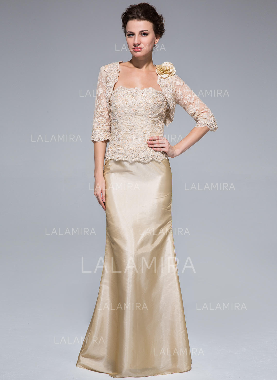 8553c042012 Trumpet Mermaid Taffeta Lace Sleeveless Strapless Floor-Length Zipper Up  Mother of the Bride. Loading zoom
