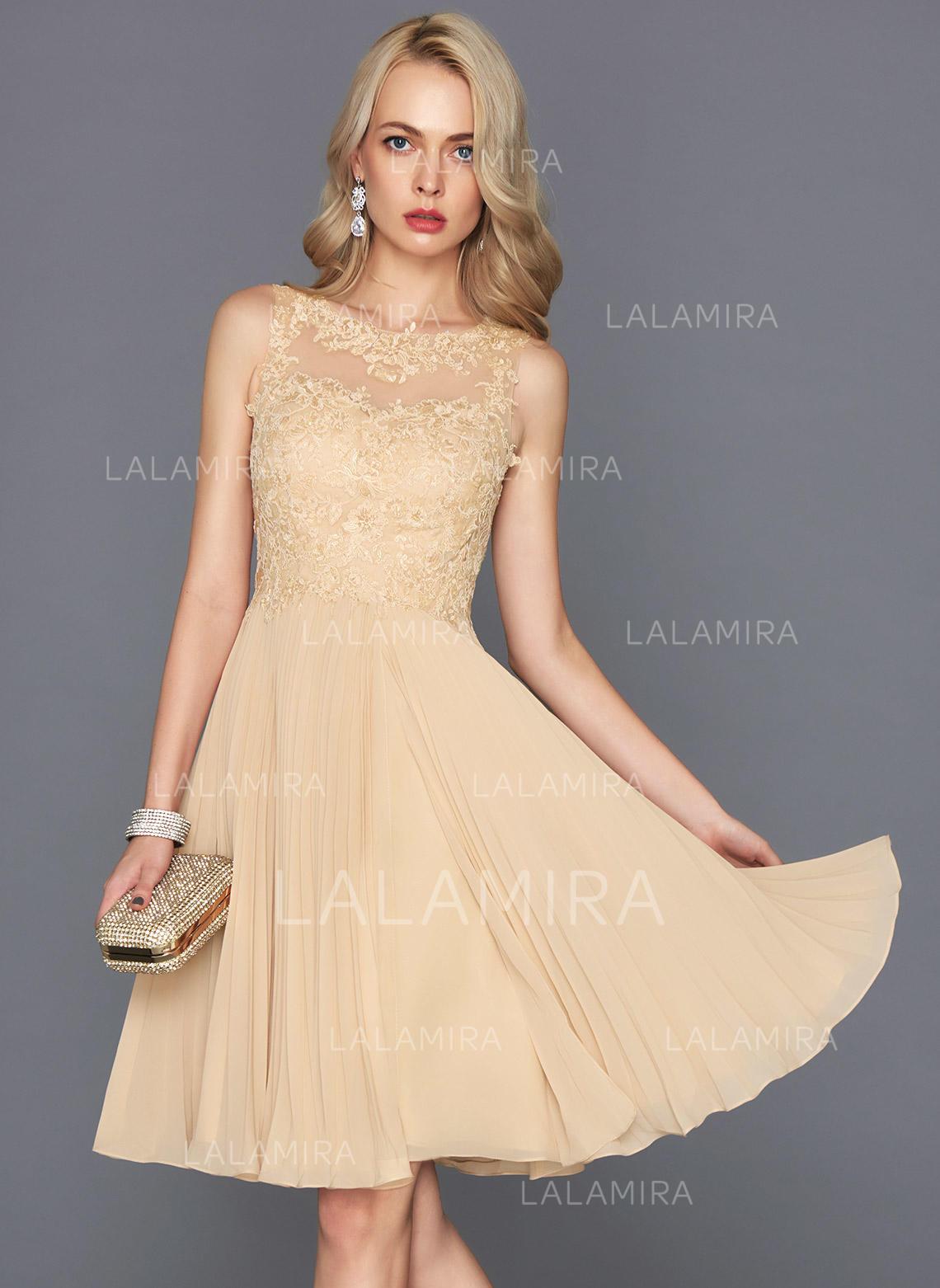 5a05198af1 Flattering Chiffon Homecoming Dresses A-Line Princess Knee-Length Scoop Neck  Sleeveless (. Loading zoom