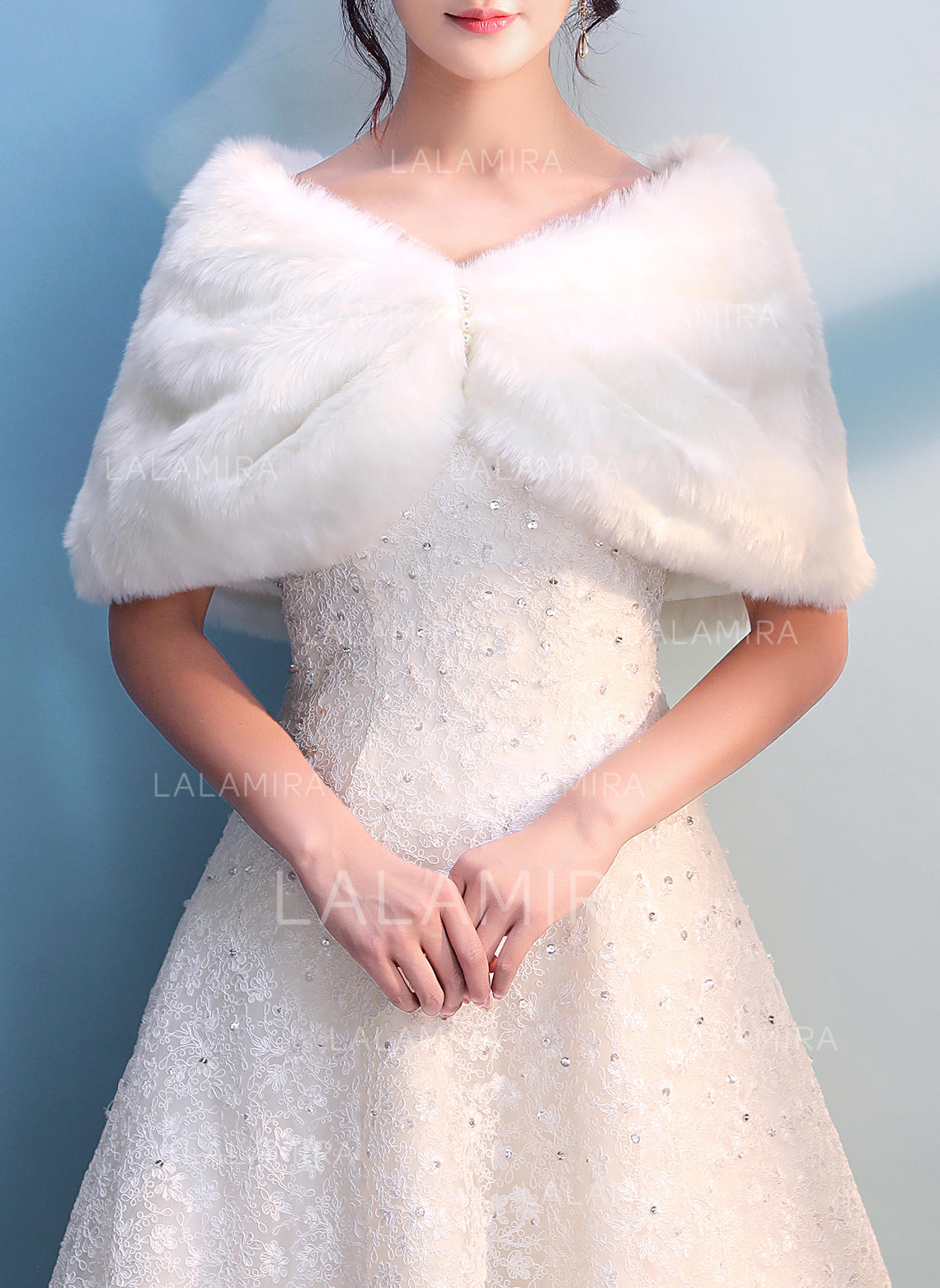 Wrap Wedding Faux Fur Ivory Wraps (013137426) - Wraps - lalamira