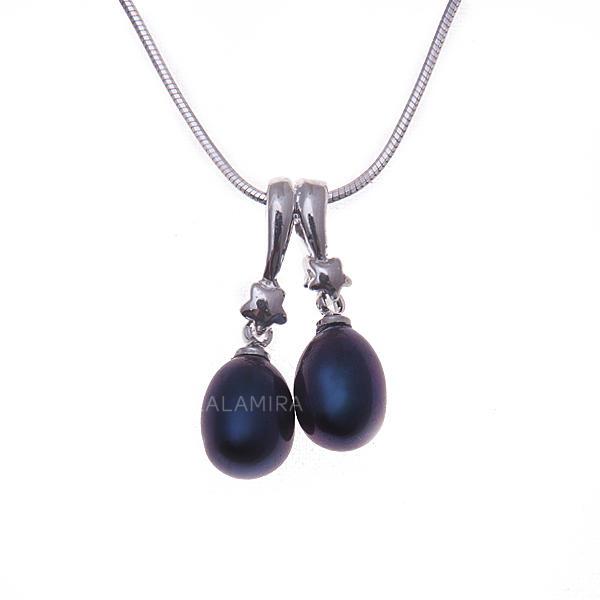62990407593c Collares Perla 925 cadena de plata y Hermoso 15.75