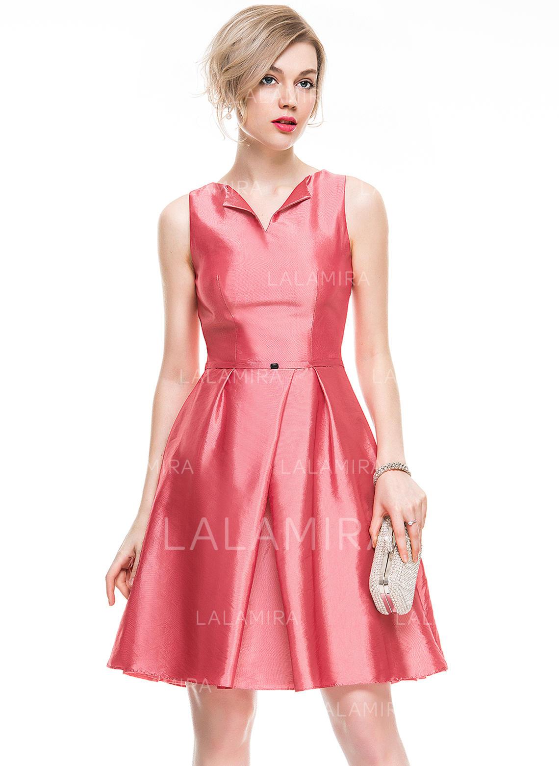 exceptional range of styles Discover sports shoes Beading A-Line/Princess V-neck Taffeta Cocktail Dresses (016077831)