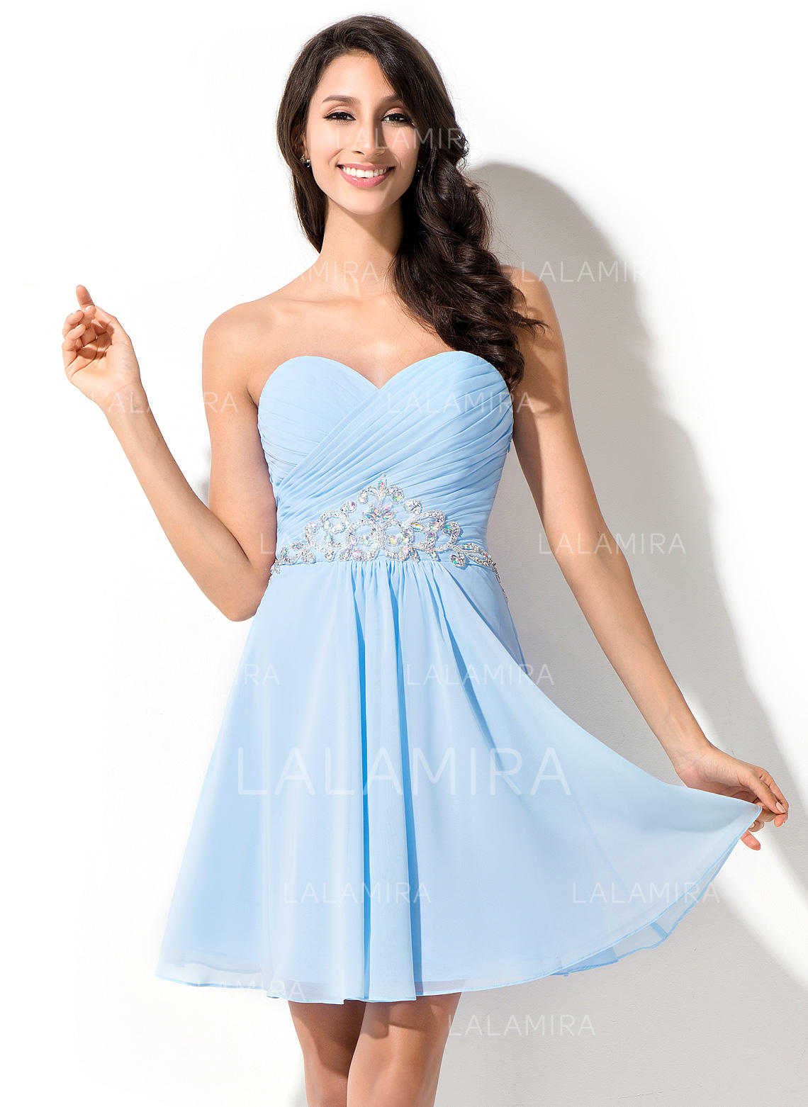 87d27409881 Glamorous Chiffon Homecoming Dresses A-Line/Princess Short/Mini Sweetheart  Sleeveless (022214026. Loading zoom
