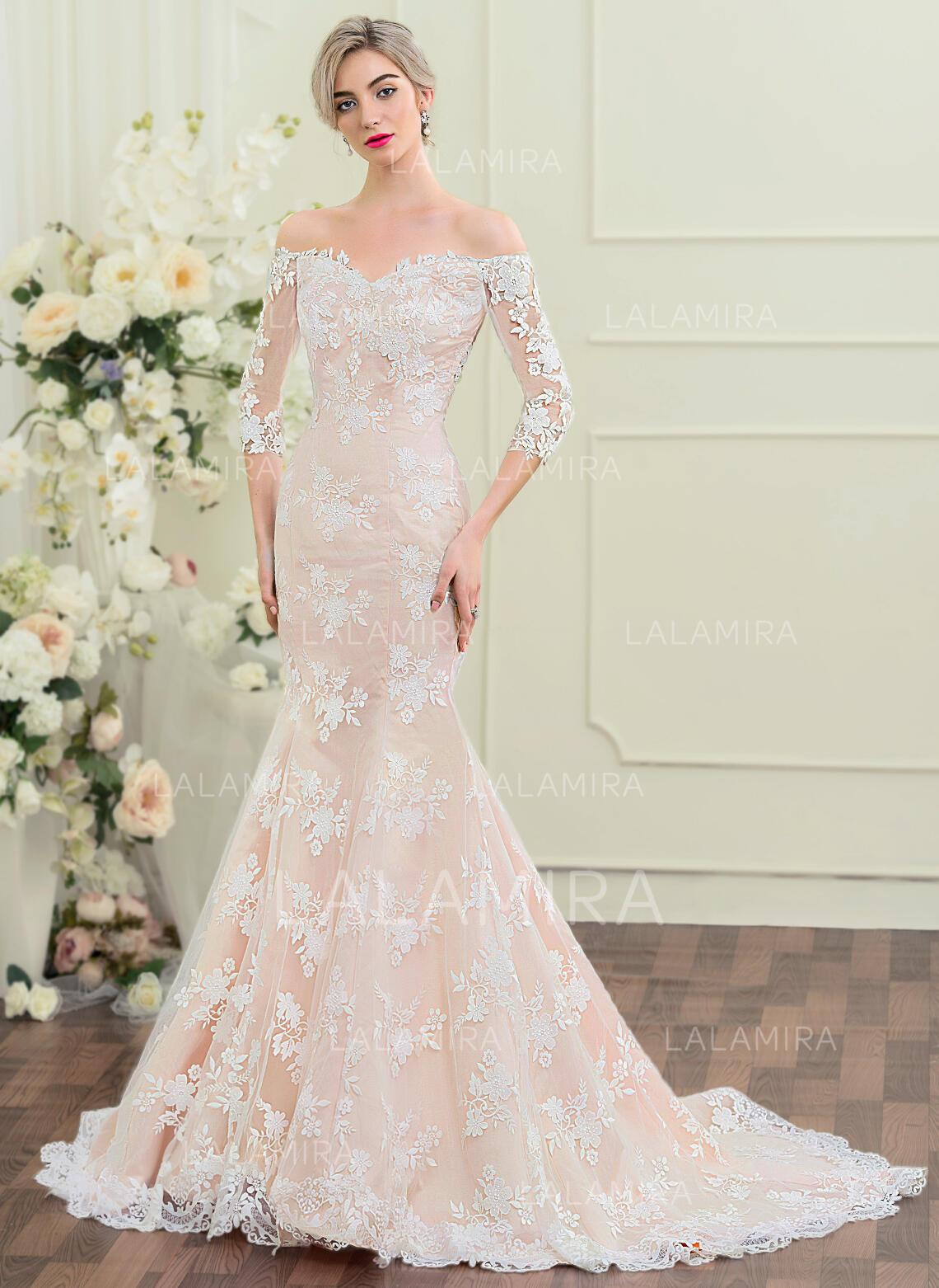 short sleeve wedding dress