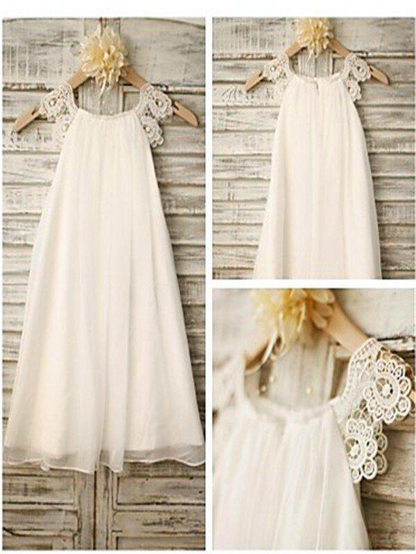 833b285aa Scoop Neck A-Line Princess Flower Girl Dresses Chiffon Lace ...
