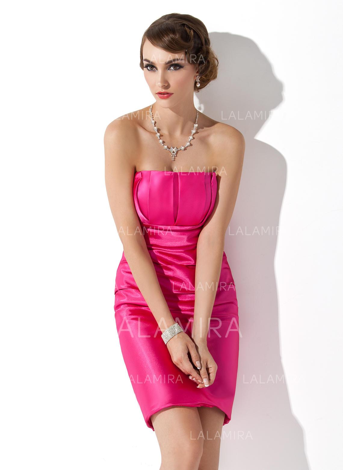 Vestido tubo Escote ondulado Corto/Mini Vestidos de baile de ...