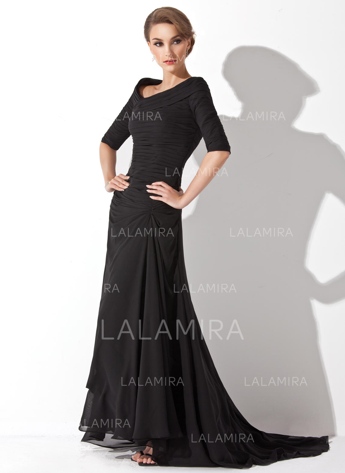 97fba9360d Fashion V-neck A-Line Princess Chiffon Evening Dresses (017200832). Loading  zoom