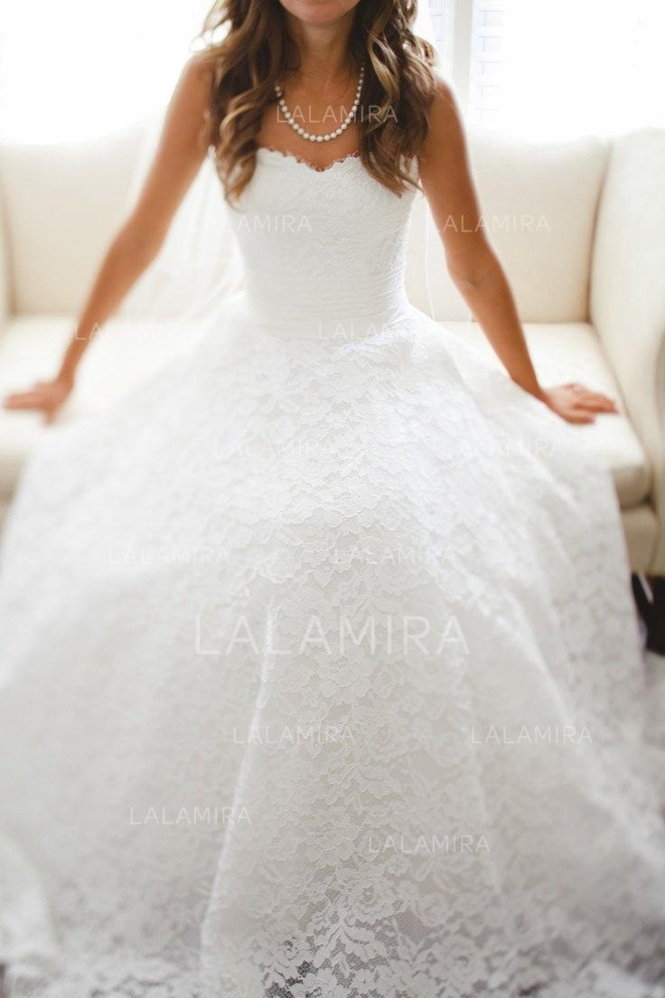 A-Line/Princess Sweetheart Cathedral Train Wedding Dresses ...