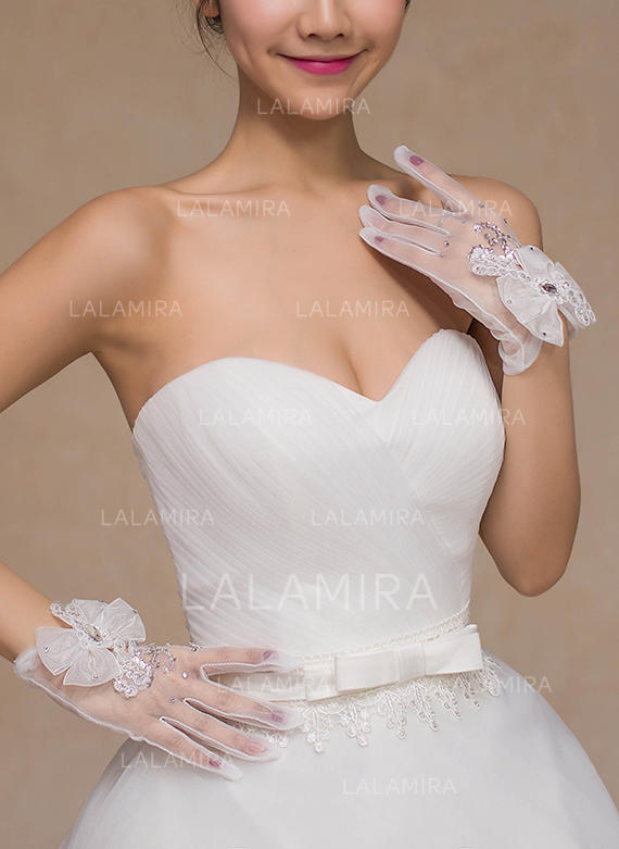 Lace Bridal Gloves (014105502) - Gloves #192131 - lalamira