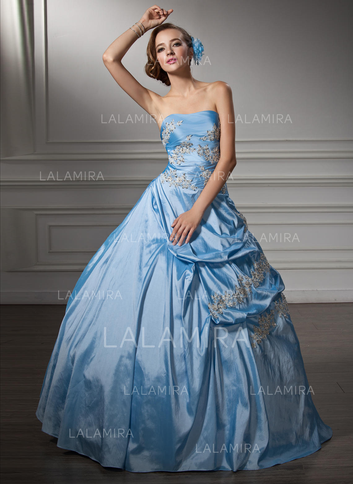 435922fefea Ball-Gown Taffeta Prom Dresses Sexy Floor-Length Sweetheart Sleeveless  (018135443). Loading zoom