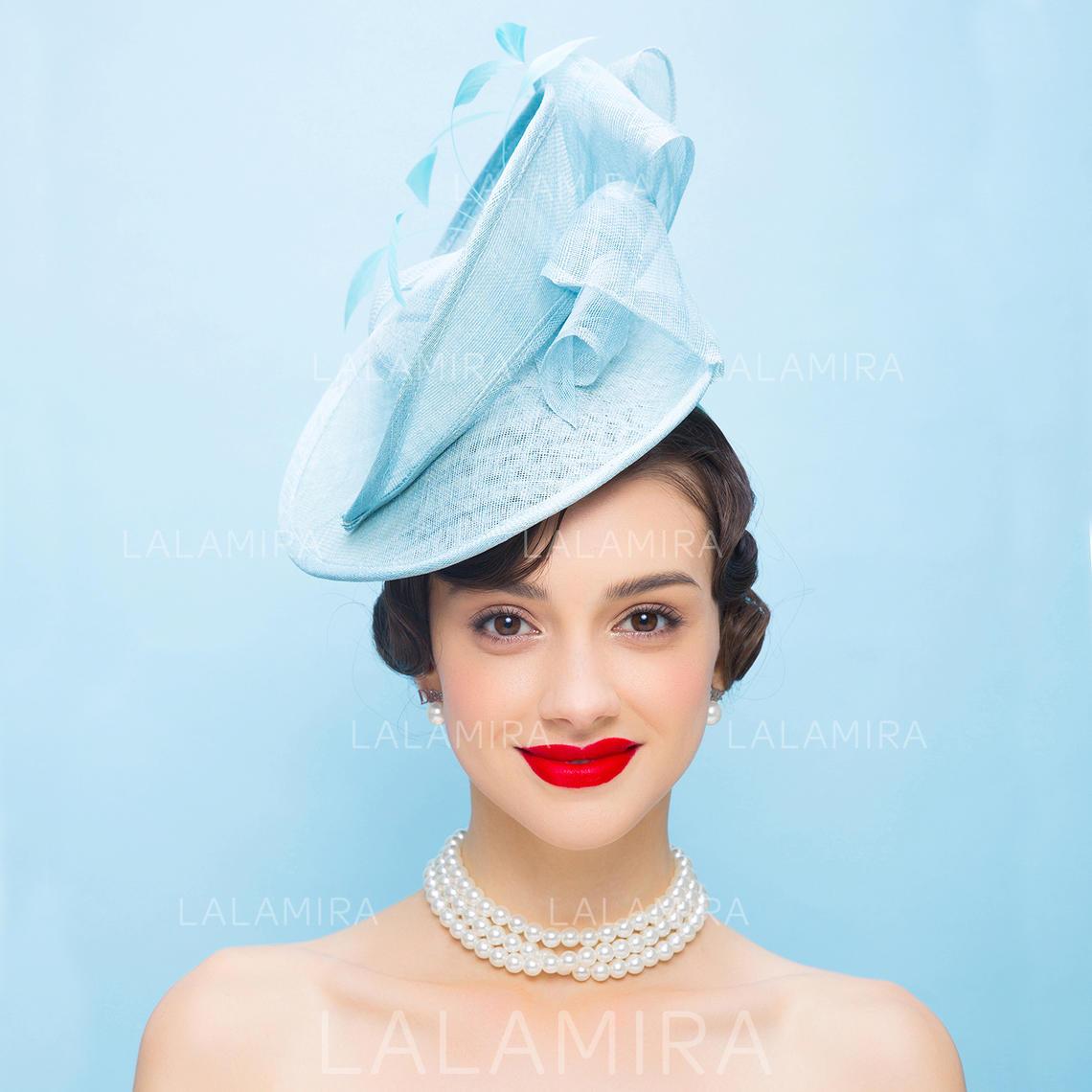 853e23d7ba0fd Net Yarn With Feather Fascinators Vintage Ladies' Hats (196194368). Loading  zoom