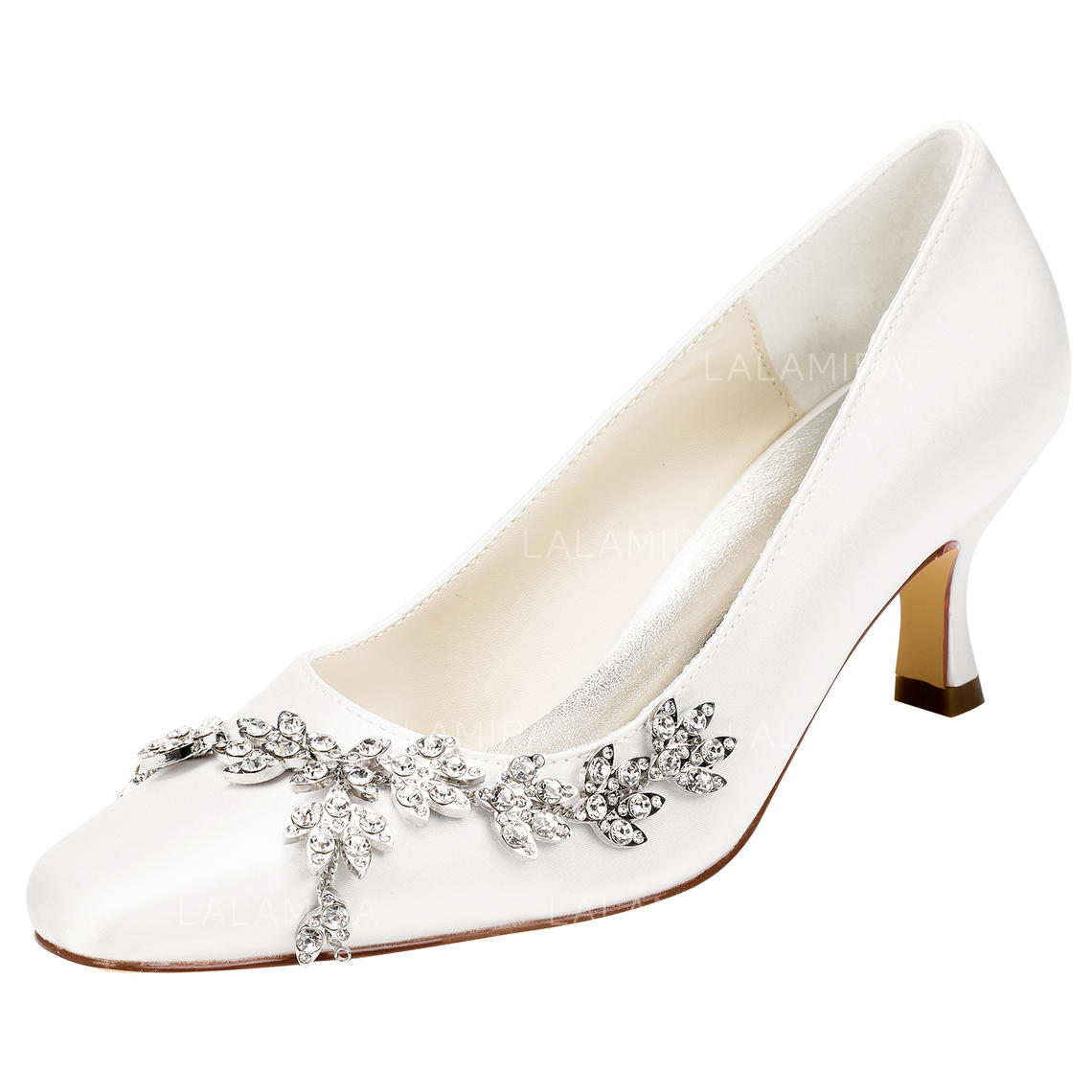 0c2e38fde4cd Women s Pumps Stiletto Heel Satin With Crystal Wedding Shoes (047206766). Loading  zoom