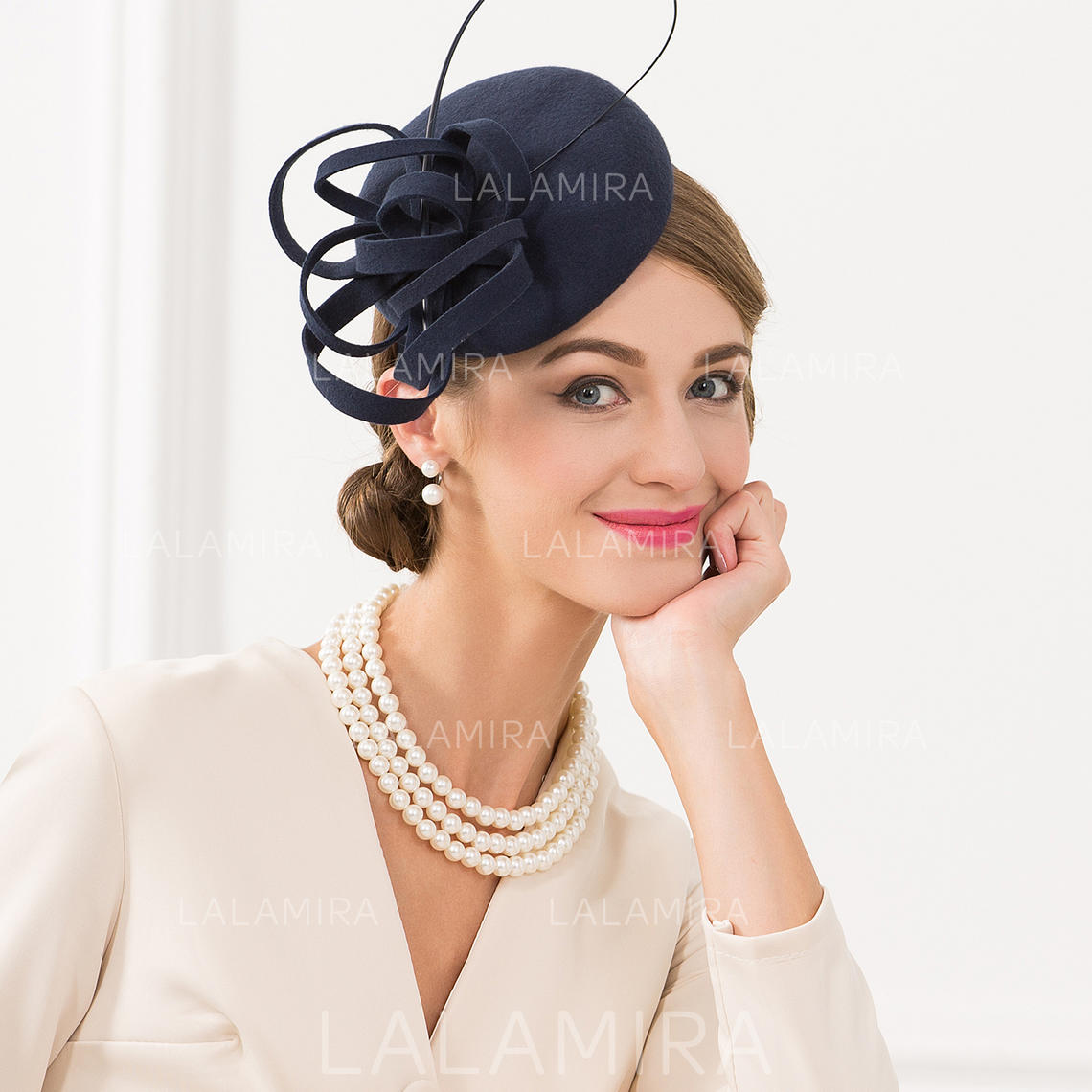 976691dbe5d64 Wool With Feather Fascinators Vintage Ladies' Hats (196194349). Loading zoom