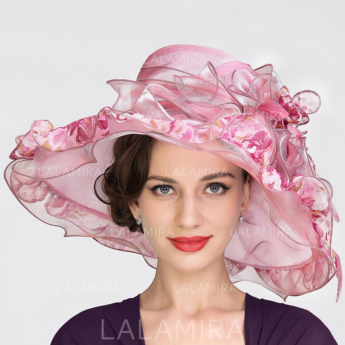 84911c00453a2 Organza Bowler Cloche Hat Beautiful Ladies  Hats (196193928). Loading zoom