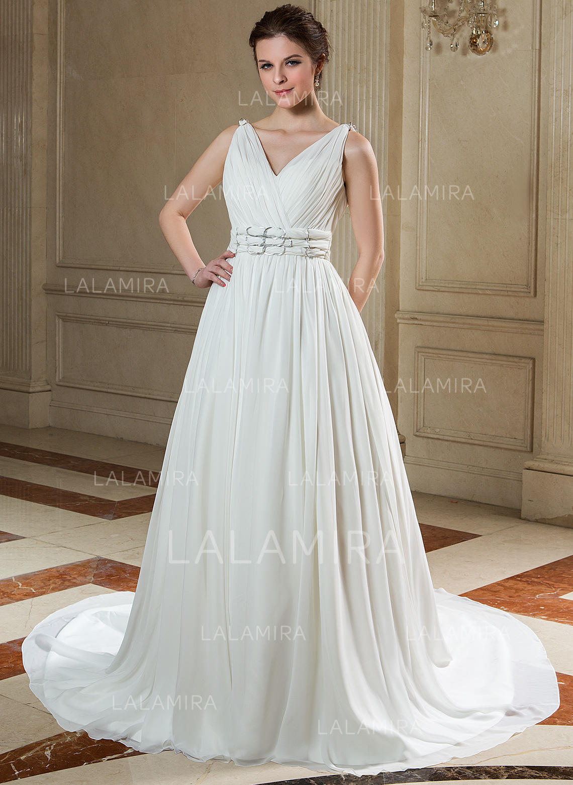 Fashion Sweetheart A-Line/Princess Wedding Dresses Chapel ...