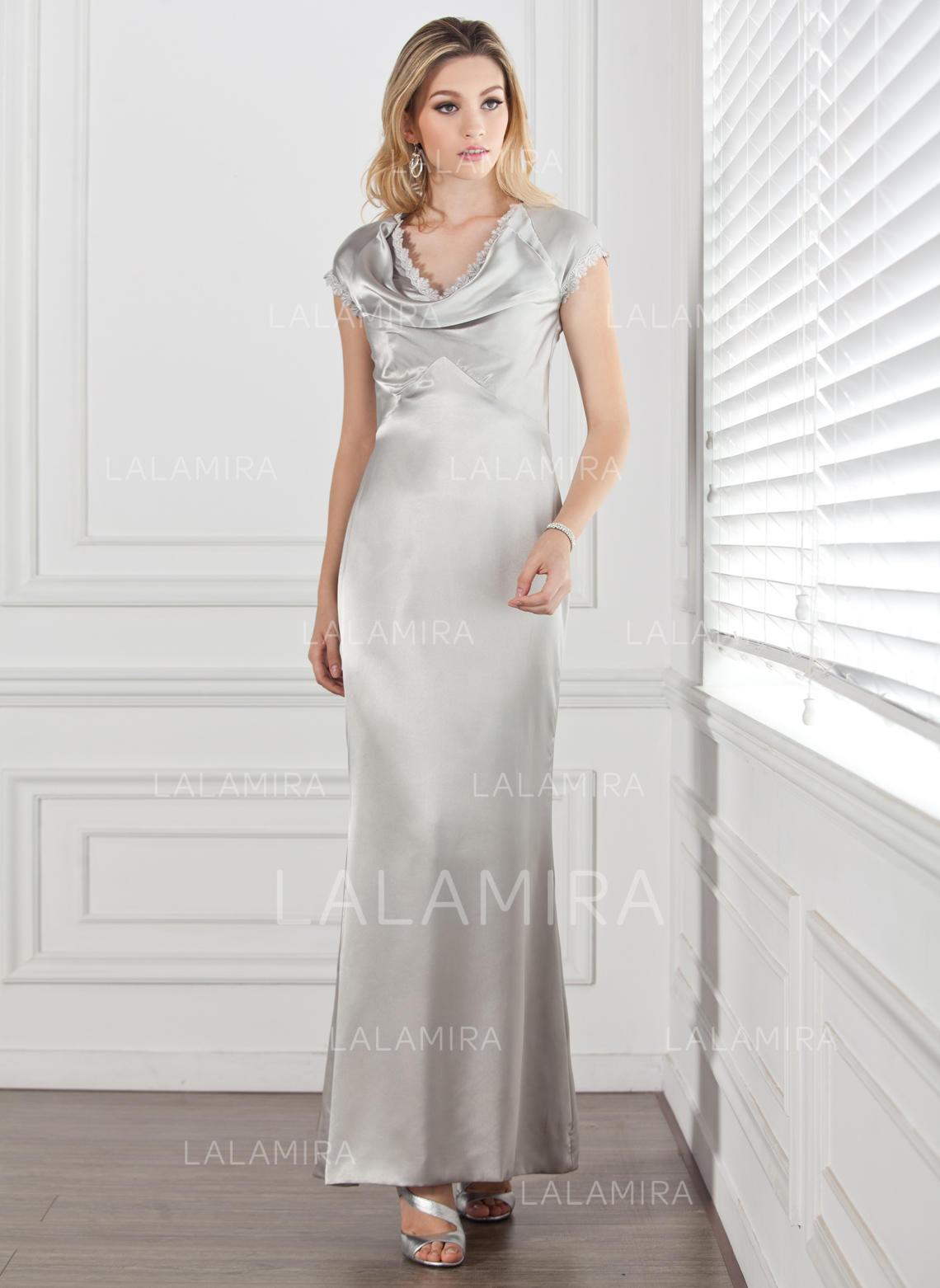 sexy knöchellang etui-linie charmeuse kleider für die brautmutter  (008211185)
