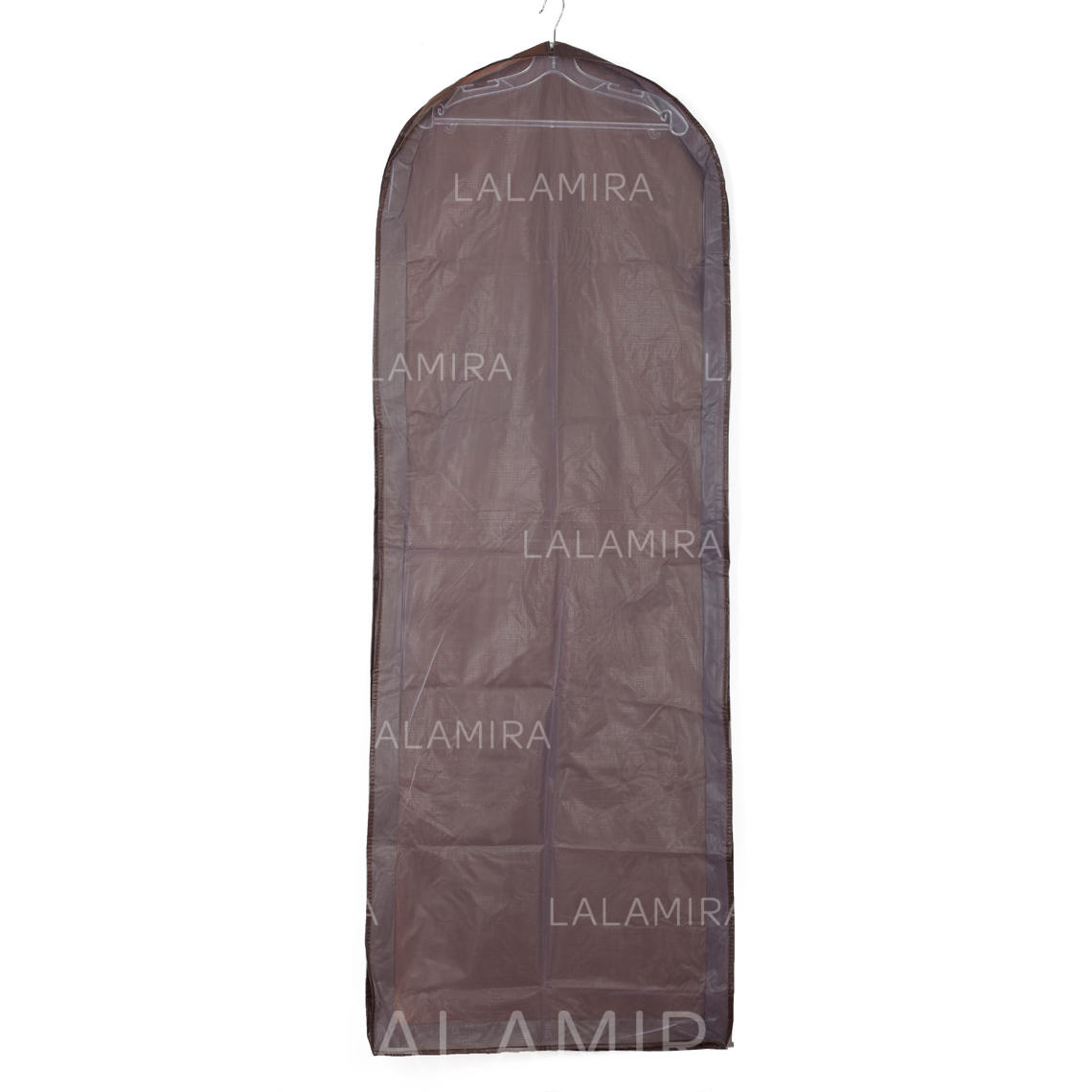 Garment Bags Gown Length Side Zip Tulle/PVC Chocolate Wedding ...