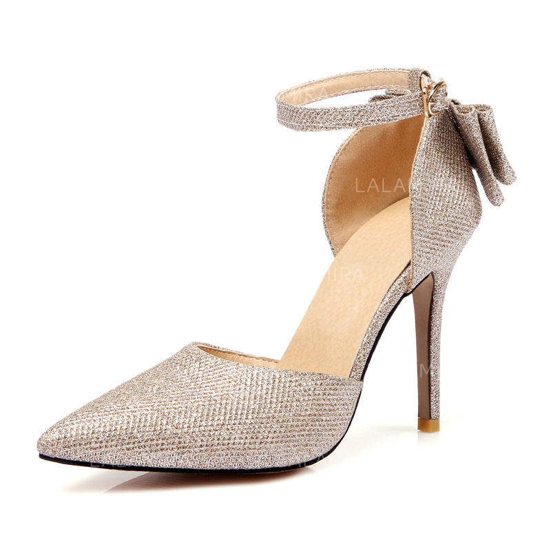 No Heel Wedding Shoes: Women's Stiletto Heel Leatherette No Wedding Shoes #208185
