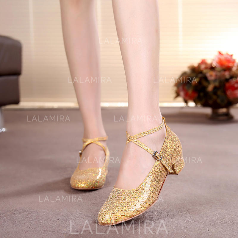 cf7682df3 Kids' Ballroom Heels Pumps Sparkling Glitter With Ankle Strap Dance Shoes  (053179644). Loading zoom