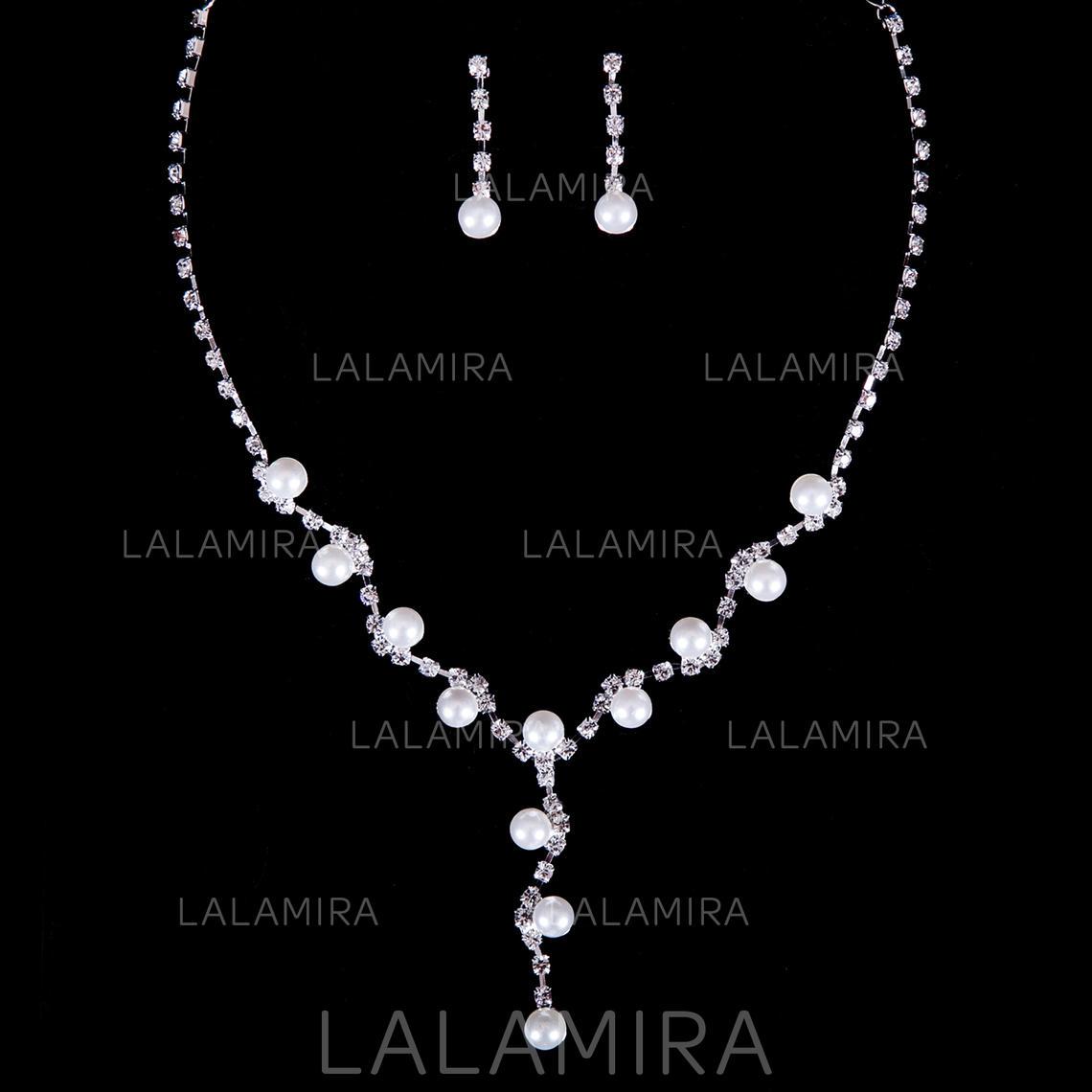 60e9fcdaae49 Sistemas de la joyería Diamantes de imitación Perla Corchete de la langosta  Perforado Joyas de boda. Loading zoom. Cargando