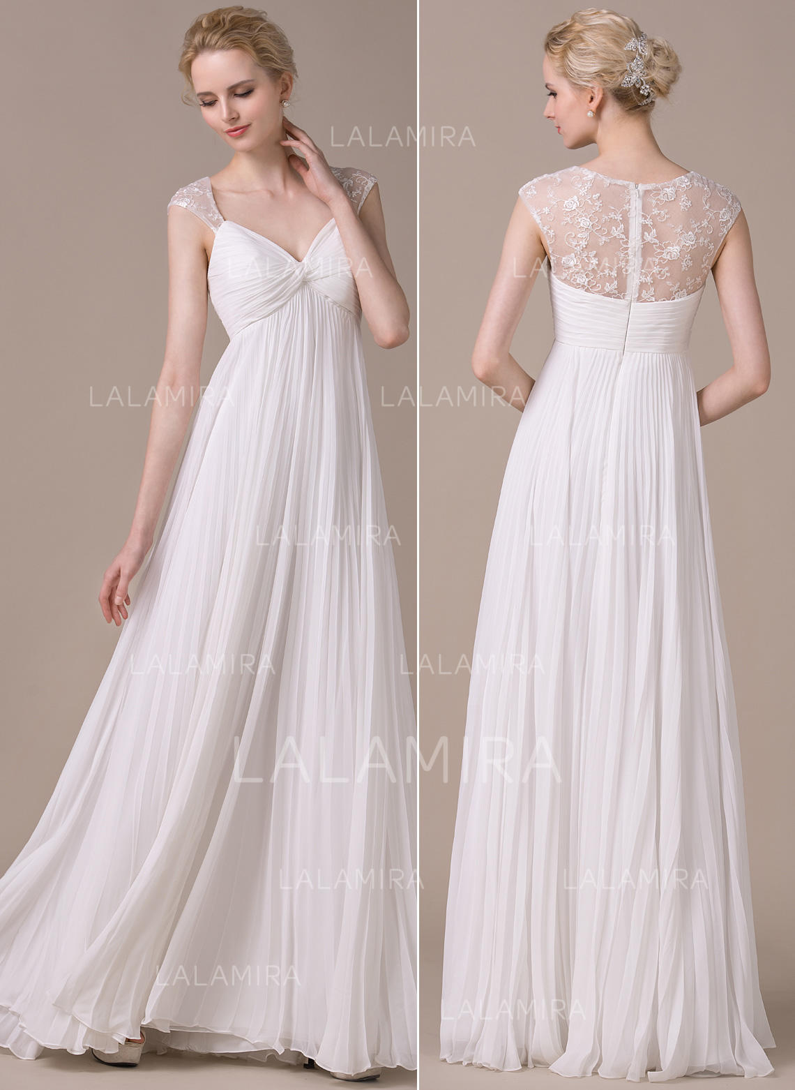Sweetheart A-Line Princess Wedding Dresses Chiffon Pleated Sleeveless Floor- Length (002059208. Loading zoom 44bfde6a3