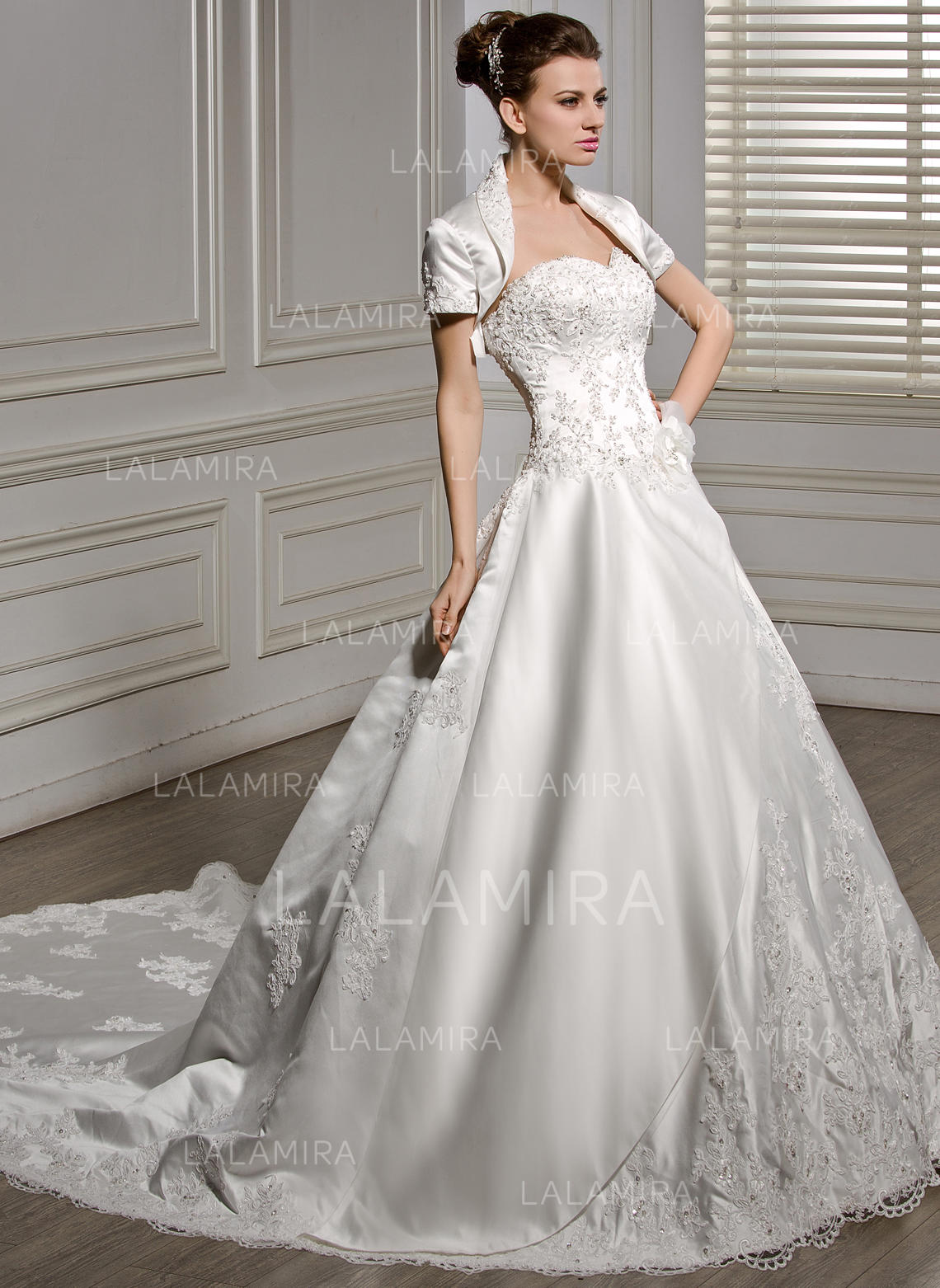 2e40a4900c2 Sleeveless General Plus Sweetheart With Satin Wedding Dresses (002056586). Loading  zoom