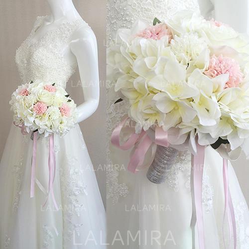 Brautstrausse Brautjungfer Blumenstrausse Hochzeit Satin 10 62