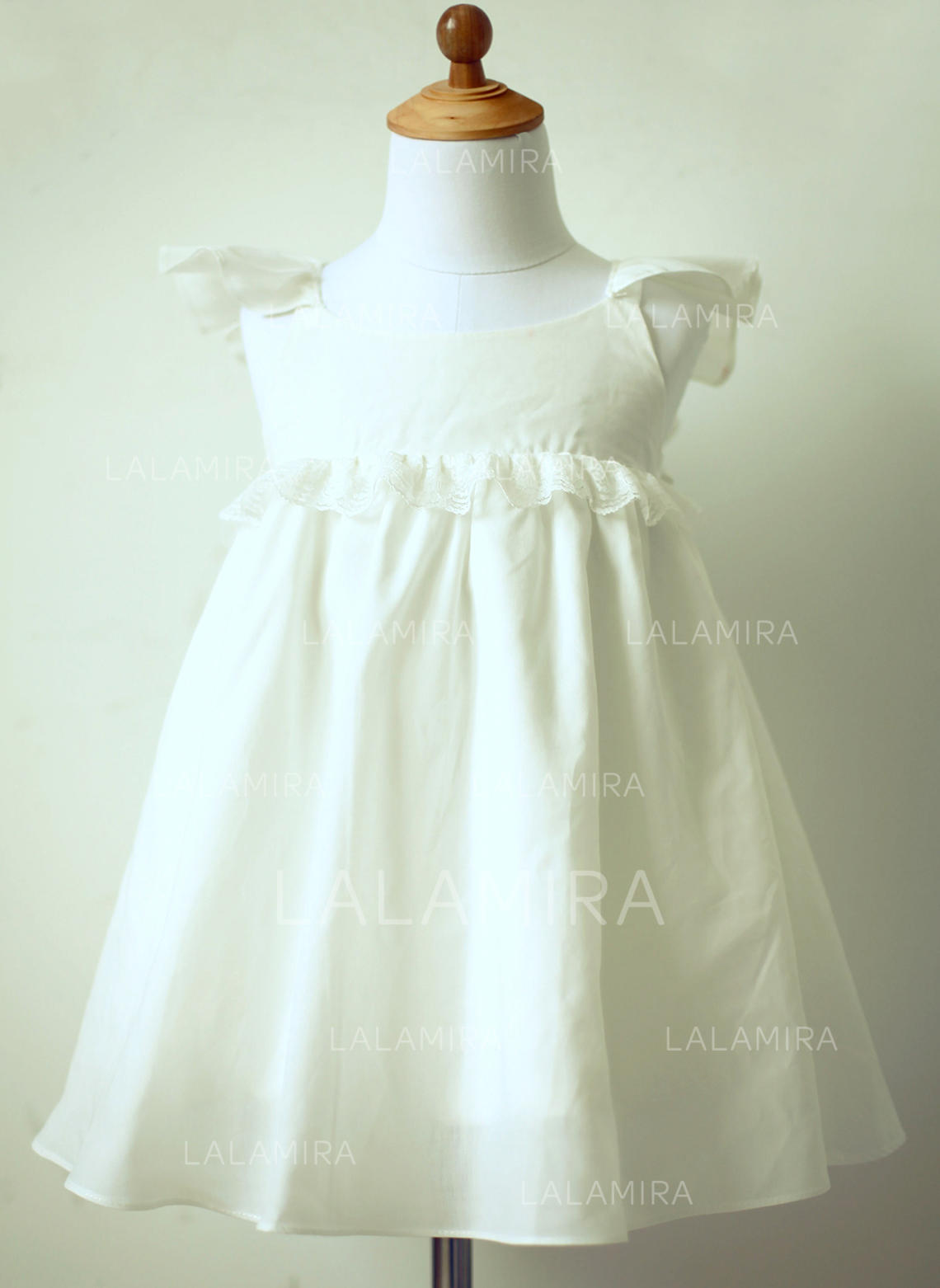 d9b97ec6284f8 Empire Knee-length Flower Girl Dress - Cotton Sleeveless Scoop Neck With  Ruffles/Lace. Loading zoom