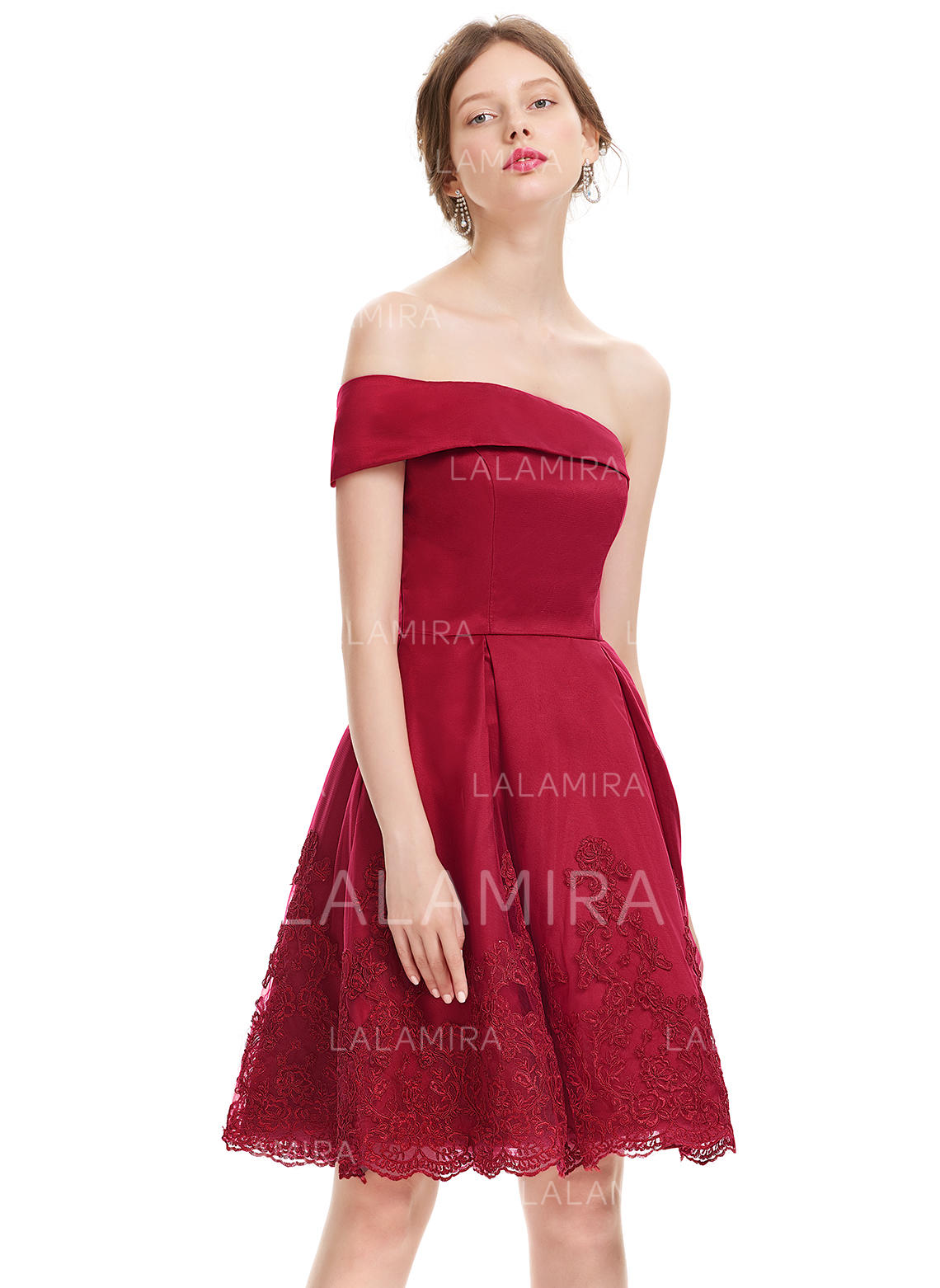 cowl neck prom dress