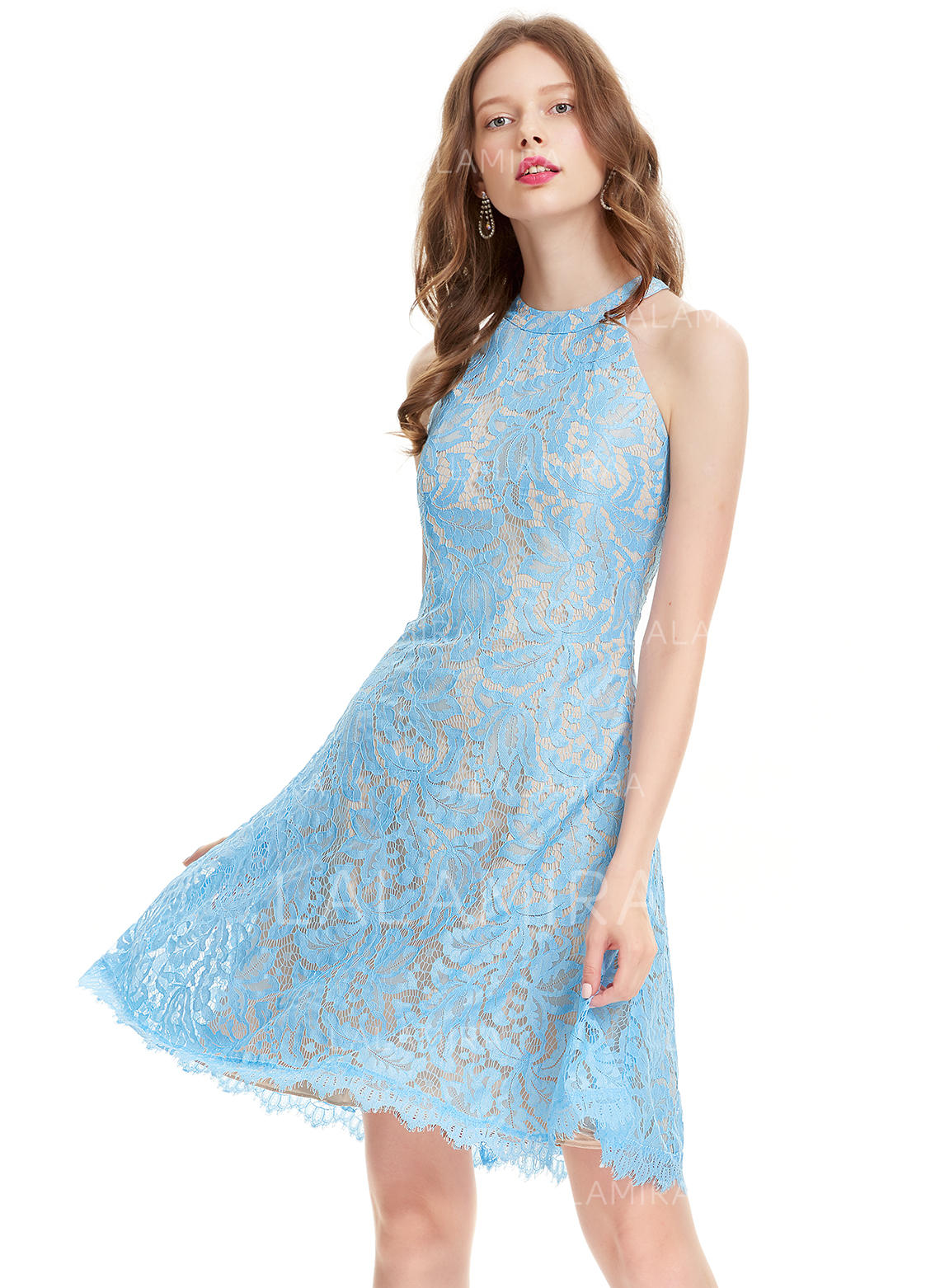 59eef6c89f Luxurious Lace Homecoming Dresses A-Line Princess Knee-Length Scoop Neck  Sleeveless (. Loading zoom