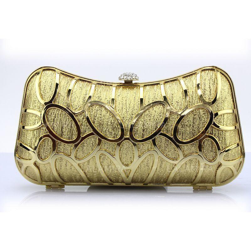 a4c260ac57 Moda PU Embreagens Bolsa de Pulso (012105190). Loading zoom. Carregando.  Cor  Dourado