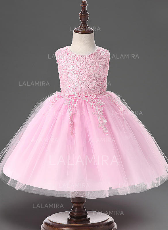 be8709c4f9d21 Tulle Scoop Neck Lace Baby Girl's Christening Gowns With Sleeveless  (2001218015). Loading zoom