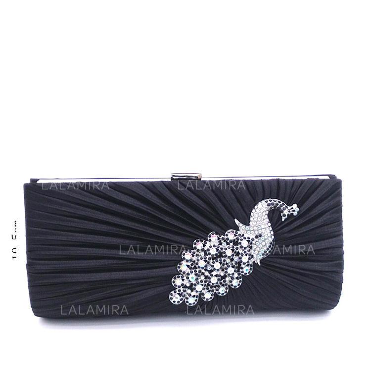 Elegante Satén Cristal   Diamante Bolso Claqué Bolso Tote Bolso de Lujo (.  Loading zoom ed389539138e