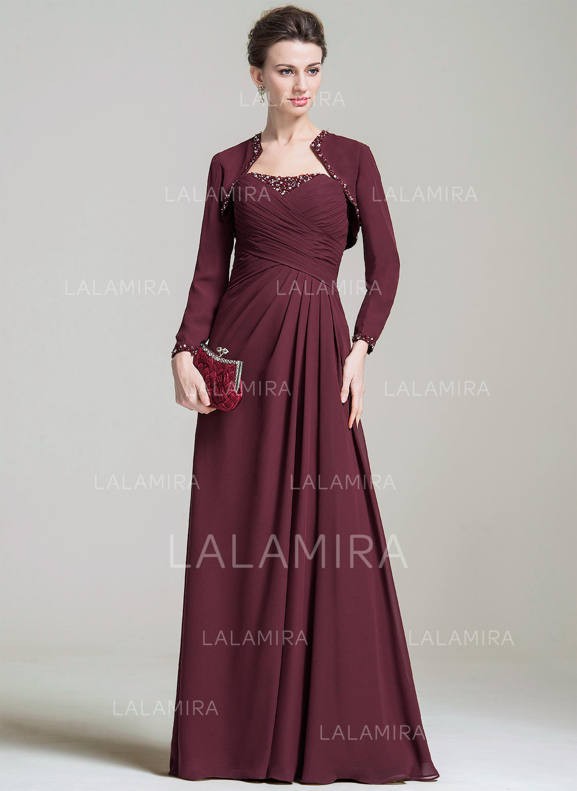 0a5461c751 A-Line Princess Chiffon Sleeveless Sweetheart Floor-Length Zipper Up Mother  of the. Loading zoom