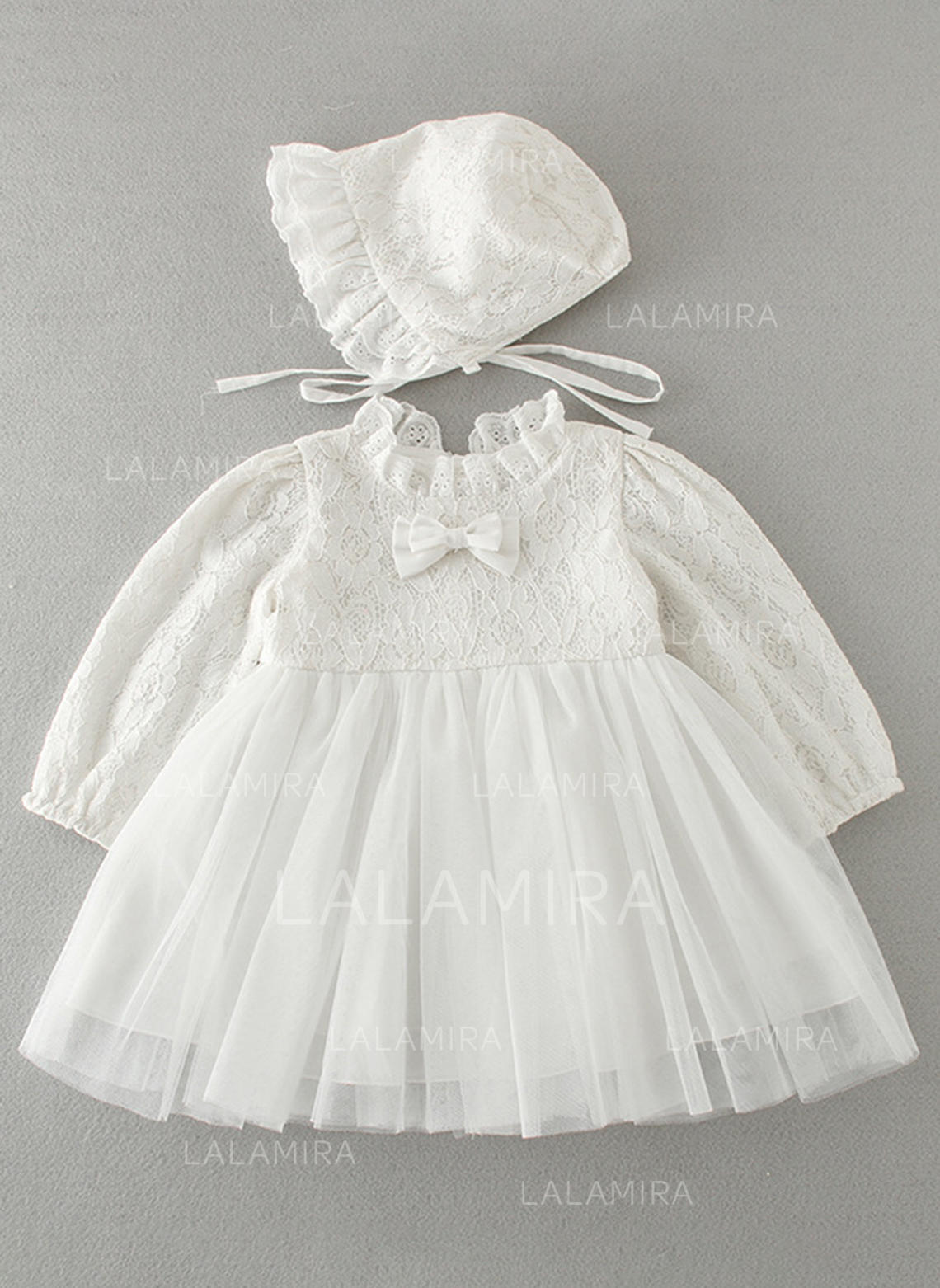 bb1eae38670 Tulle Lace Peter Pan Collar Baby Girl s Christening Gowns With Long Sleeves  (2001216778). Loading zoom
