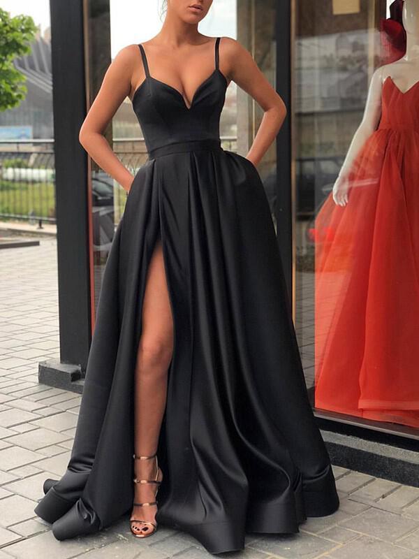 scoop neck prom dress