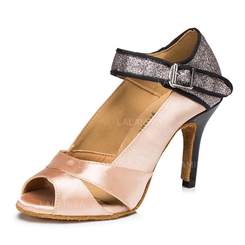 d063e8463c Mulheres Latino Sandálias Cetim Espumante Glitter Sapatos de dança  (053095144). Loading zoom. Carregando
