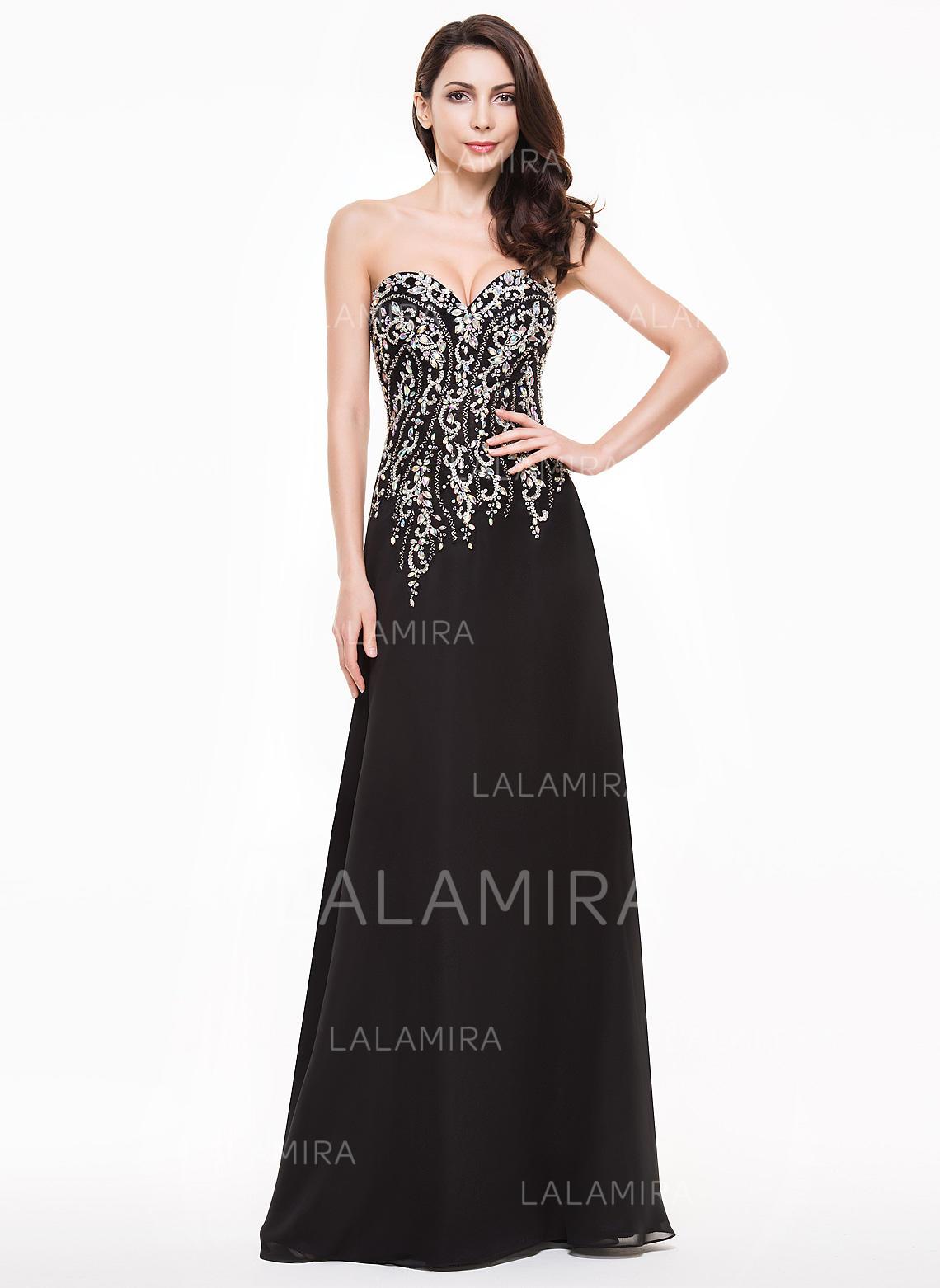 ba65ef604e Glamuroso Gasa Vestidos de noche Corte A Princesa Hasta el suelo Novio Sin  mangas (. Loading zoom. Cargando